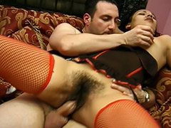 MMF Group Sex Orgy with a Nice Latin Amateur who Never Shaved Her Unshaven Pussy