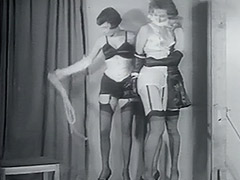 Two Villains one Damsel in Fetish Distress 1950