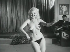 Sexy Blonde's Erotic Dance for Audience 1950 porn video