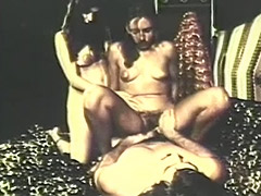 Hairy Threesome with Lots of Fucking 1970