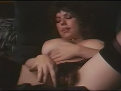 Hairy Busty Girl Masturbates to Orgasm 1970 porn video