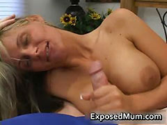Mom, Aged, Boobs, Cougar, Huge, Jerking