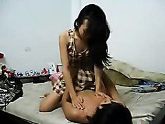 Asian slut goes commando