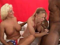 Amber and Mikki Foxx Gang Bang