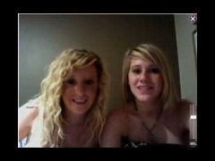 Cute Blondes Webcam couple of cute college coeds doing some webcam from a hotel room They hide behin
