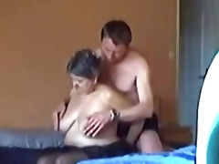 Spying my BBW Mum with the neighbor porn video