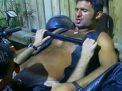 Hunk guy anal fuck by a police man