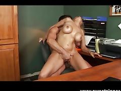 Julia Ann fucked hard in the office porn video