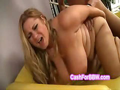 Hung perv makes Samanthas huge natural boobs bounce