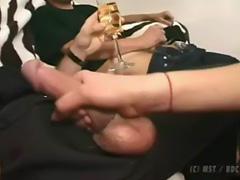 A hot beurette makes sex