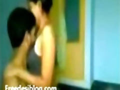 Young Indian couple make love