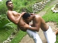 Muscled Gay Men Fucking in Public