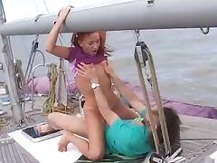 Boat, Boat, Outdoor, Redhead, Sex