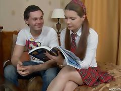 Tutor fucks his students a schoolgirl