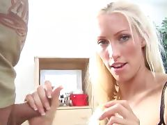 Hot Handjob with Facial Cumshot for Blonde Cassie Young