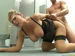 Blonde Teacher Devon Lee with Big Tits and Ass Fucking A Student