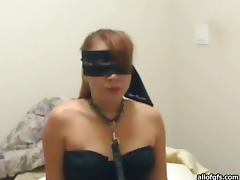 Blind Folded Blonde Has Her Pussy Fucked In Amateur