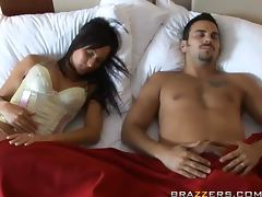 Small Breasted Brunette Beauty Simone Peach Anally Fucked by Big Dick