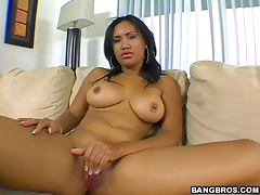 Beautiful big tits ebony Ryaan fucked in every