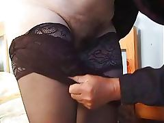 Chubby Grey Haired Granny Gets Fucked Wearing Sexy Stockings