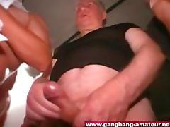 Blonde Teen Slut Takes a Cum Bath At a Massive Gangbang