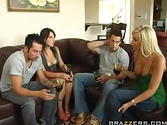 Foursome, Blowjob, Cumshot, Foursome, Group, Natural