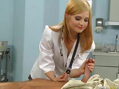 Slender young doctor