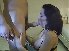 Exquisite Anal Brunette Sucks and Fucks a Huge Cock In Sexy Stockings