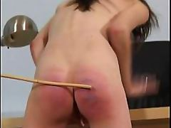Cruel Brunette Dominatrix Spanks a Hot Lesbian in a Sex Slave Audition