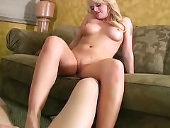 All, Big Tits, Blonde, Femdom, Jerking, Masturbation