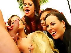 Wet, Big Cock, Blonde, Brunette, Clothed, Cumshot