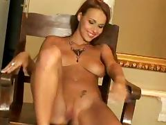 Short Haired Dorothy Green Shows Her Beautiful Shaved Pussy