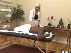 Massage black guy and fuck