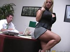 Insanely Busty Blonde Shyla Stylez Gets Anally Pounded By Her Co worker