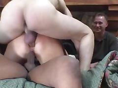 Housewife, Blonde, Cuckold, Cumshot, Double, Housewife