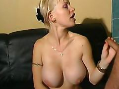 Insatiable Blonde French MILF Gets Gangbanged and Covered