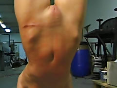 Flexible perky tits girl whipped