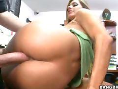 Big tits girl desk fuck