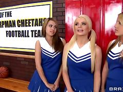 Dirty Cheerleaders With Big Tits Getting Fucked