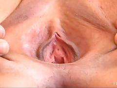 Close Up Solo Scene Of Sabrina's Pink Pussy And Big Natural Tits