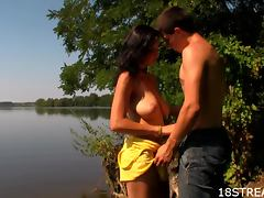 Outdoor Fucking With the Naughty Teen Erika