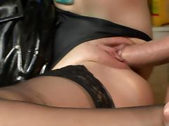Panties, Babe, Blowjob, Brunette, Clothed, Fetish