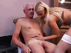 Old and Young, Blonde, Facial, Hospital, Nurse, Old