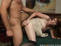 Redheaded Bride's Maid Gets A Hardcore Fuck From A Big Cock
