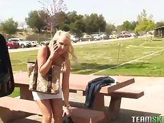 Sexy blonde girl Destiny Jaymes POV hardcore doggy style
