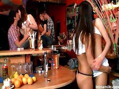 Bar, Amateur, Bar, Fingering, Kissing, Party
