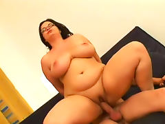 Fat bitch in glasses hardcore