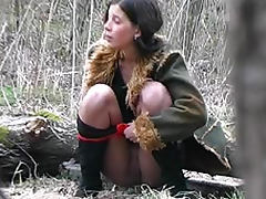Golden Shower, Boots, Panties, Pantyhose, Peeing, Shoes