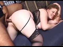 Hairy Redhead Kierra Gets Analized Then Pussy Creampie