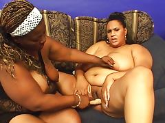 Fat ebonys pushing asses together